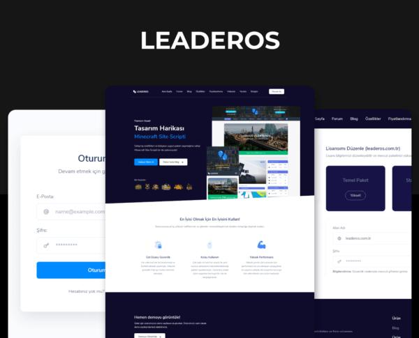 LeaderOS Satış Sitesi